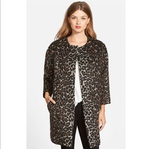 Vince Camuto Leopard Print Coat